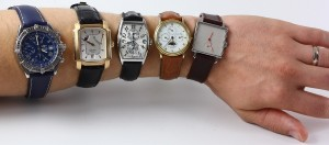 Breitling Crosswind, Glashütte Original Senator, Franck Muller Master Banker, Blancpain Villeret und Nomos Tetra