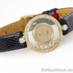 CHOPARD LADY 18K GOLD HAPPY DIAMONDS DAMENUHR DIAMANTEN REF 4052