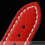 Kaufmann Uhrenarmband aus Kalbsleder (Chrono Grande) bombiert mit Dornschließe | rot