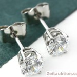"""InLumen"" Diamantohrstecker New York aus Platin"