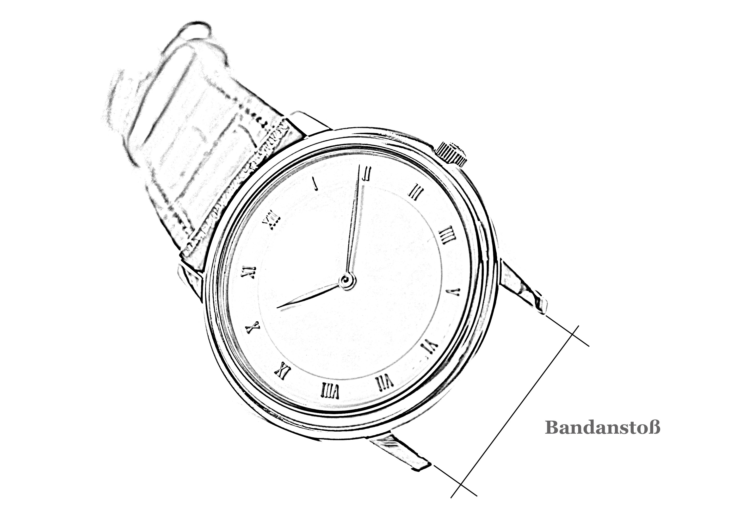 Armbanduhr skizze  Das große Uhrenarmband-Glossar