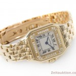 CARTIER LADY 18K GOLD 0,750 PANTHERE DIAMANTEN KARREE DAMENUHR