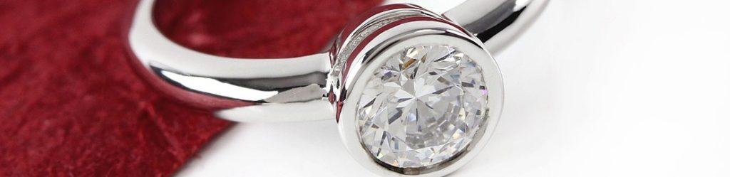 Ring mit einem Diamanten